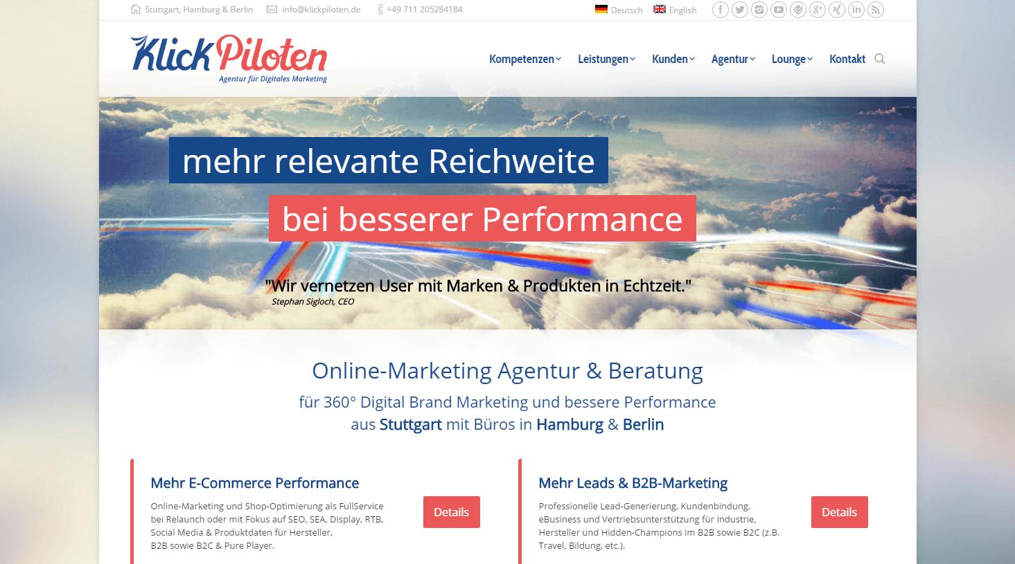 klickpiloten web site