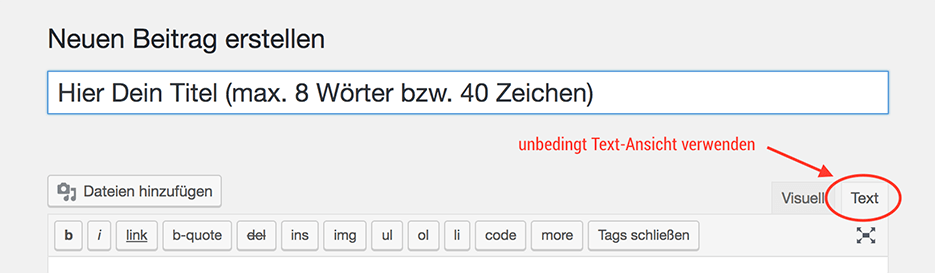 text view
