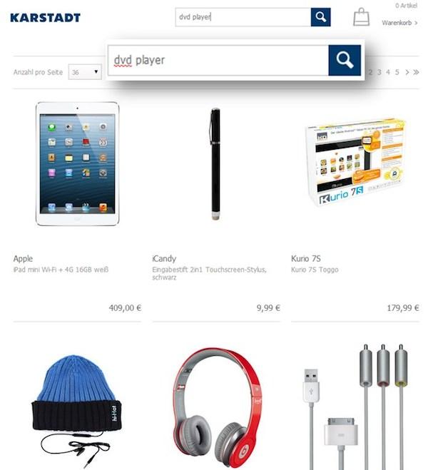 karstadt-1 Optimisation pour les boutiques en ligne Experts pour les boutiques en ligne