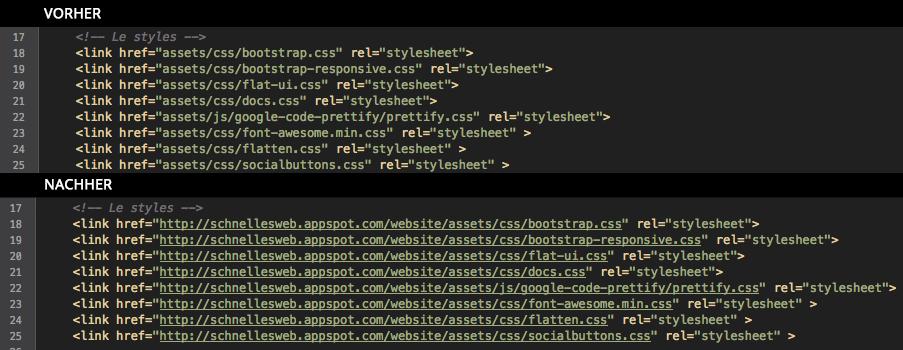 exemple de code-cdn Site Web Turbo Google CDN