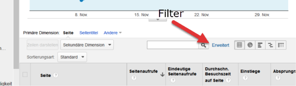 Filter-setzen SEO Reporting Google Analytics