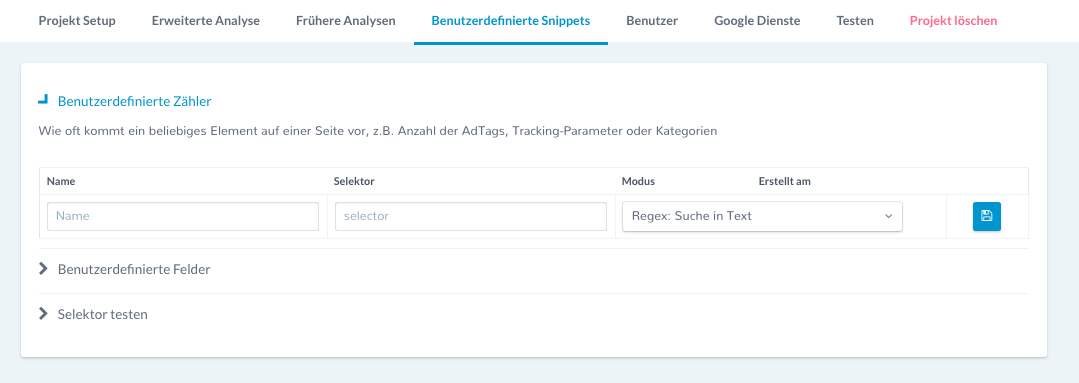 benutzerdefiniertesnippets Universal Analytics Tracking Code Snippet Tracking Google Tag Manager Google Analytics