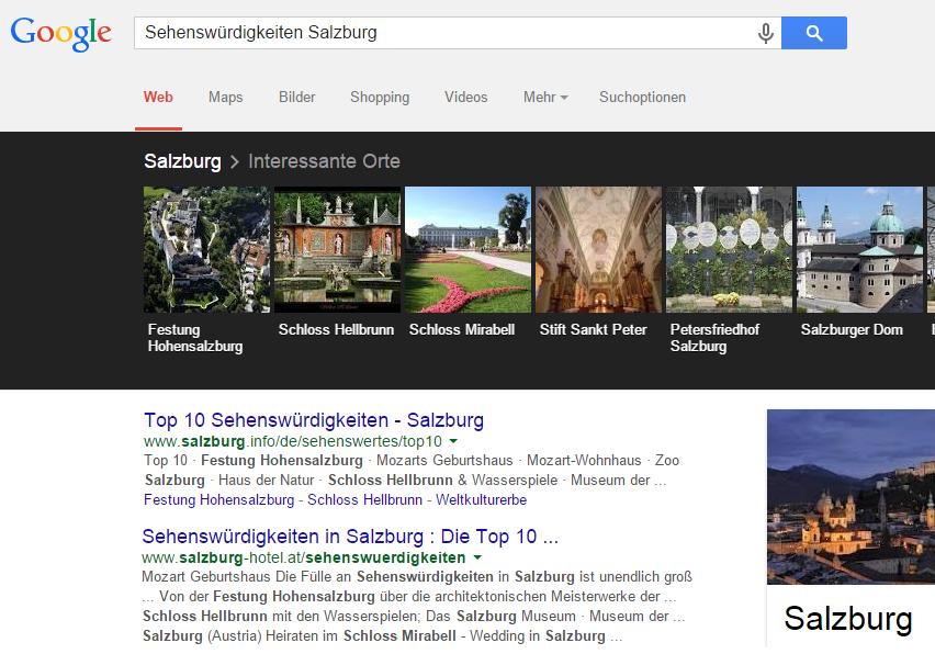 google-carrousel-curiosités-salzbourg seo bien profiter de la connaissance