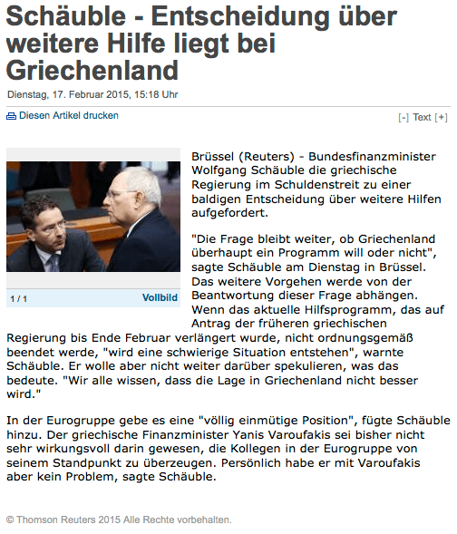 Schaeuble-decision-about-help-lies-in-Greece Bon contenu