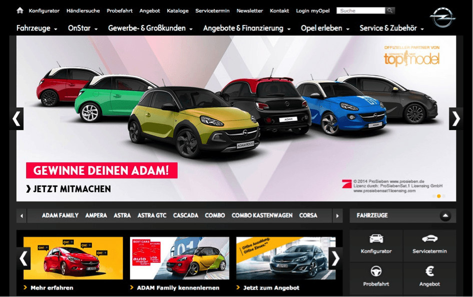 Opel-Adam-1 Organic Landingpage Landingpage
