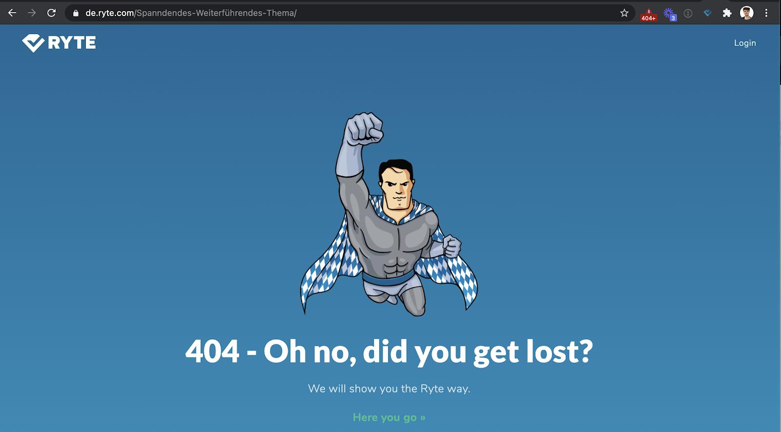 404-Fehlerseite