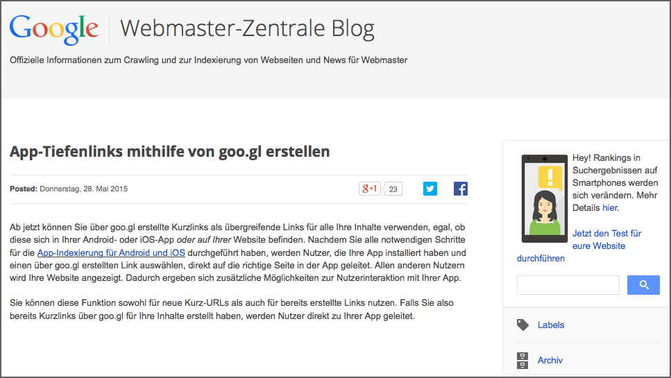 Webmaster-central-blog1 Quality Search OnPage Optimierung Interview Google