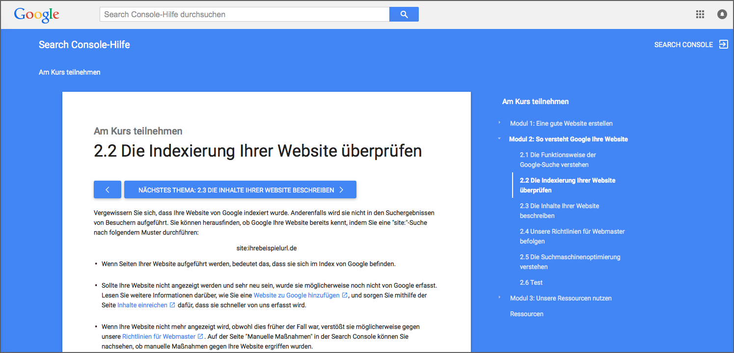 academy1 Quality Search OnPage Optimierung Interview Google