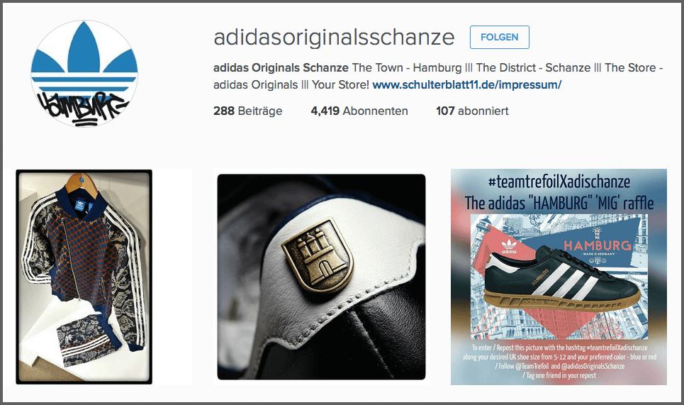 adidas réseaux sociaux Instagram Marketing
