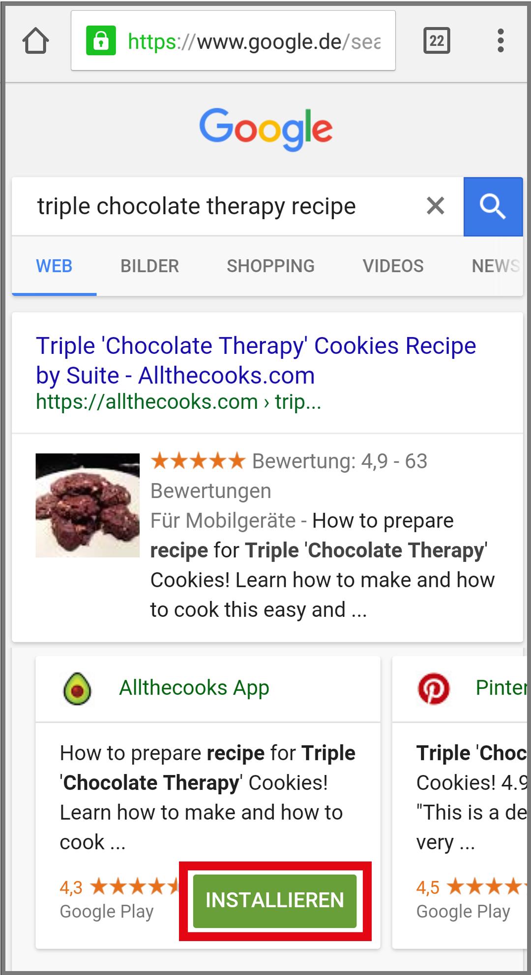 Figure 12: Meilleure indexation des applications de classement Google