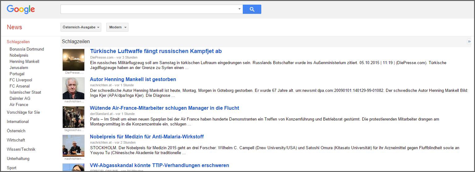 daniel1 recherche verticale Google Actualités