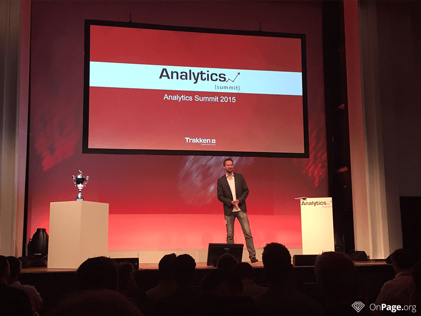 3 Trakken Google Analytics Analytics Summit