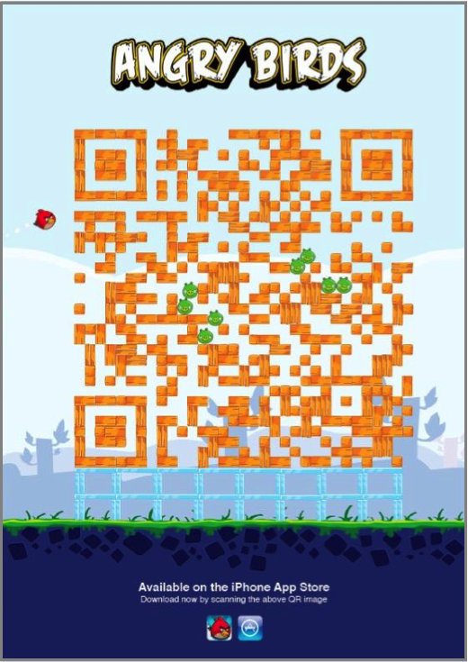 angrybirds QR Code Marketing en ligne Marketing mobile