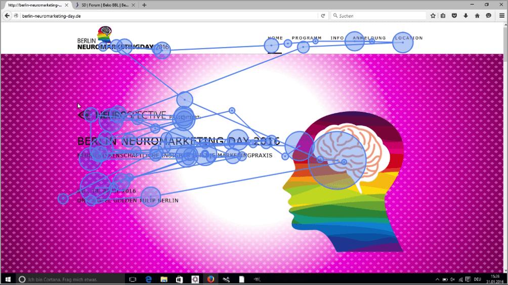 Exemple 2: traçage des yeux par neuromarketing
