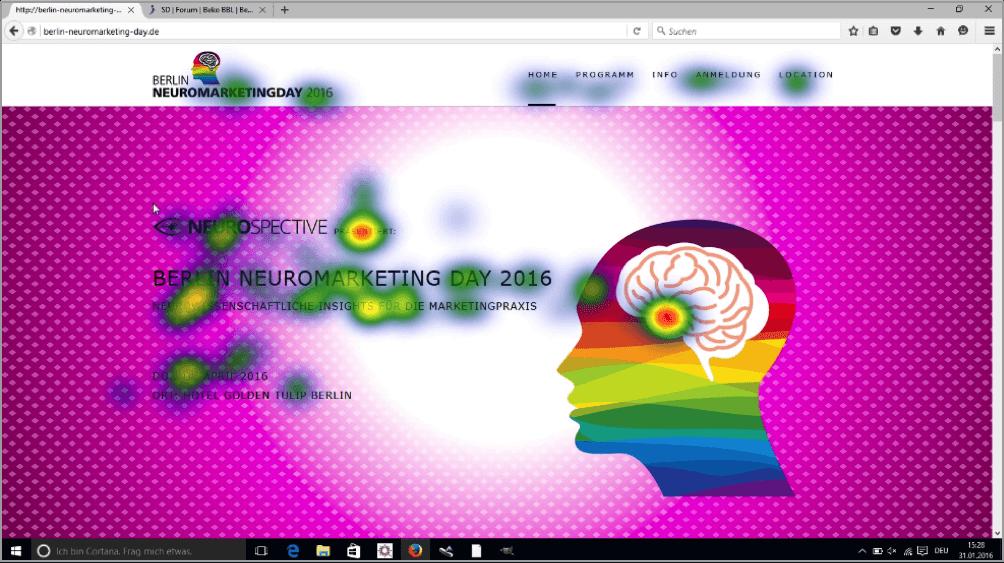 Example1 Suivi des yeux par neuromarketing