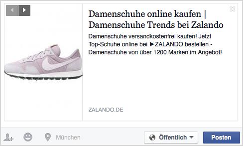 Facebook sneaker4 SERP Rich Snippets