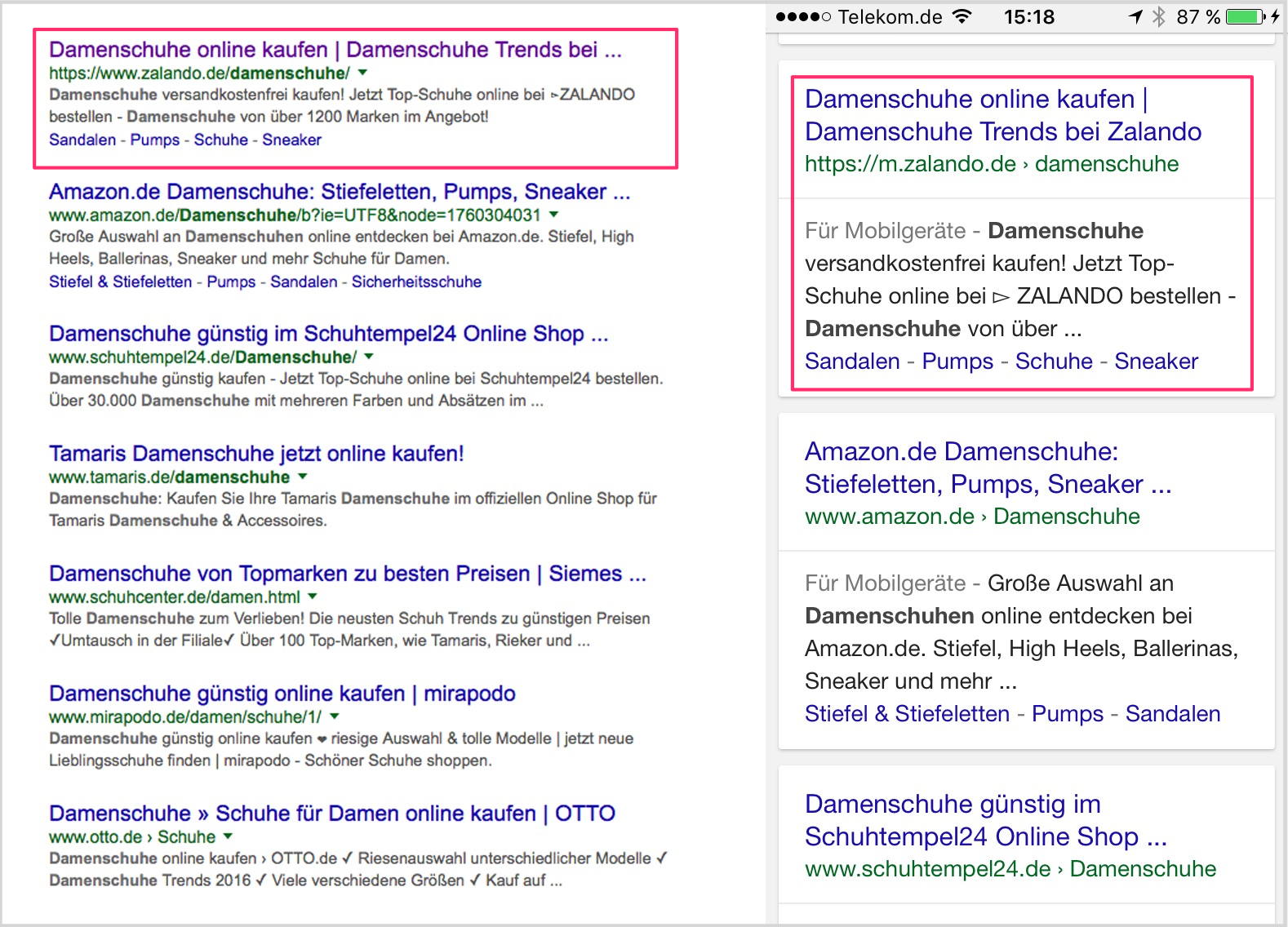 serps3 extraits enrichis SERP