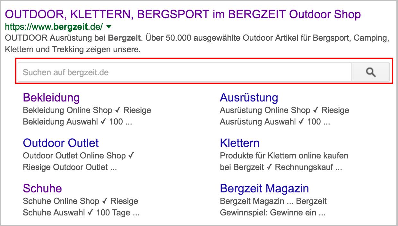 Figure1-SitelinkSearchBoxExample Rich Snippets Rich Snippet Boutique en ligne de la Boutique en ligne