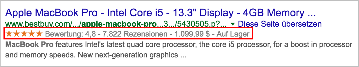 Figure 3 boutique en ligne Rich Snippets