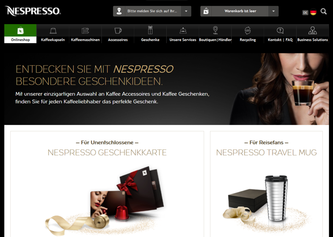 Nespresso Online Marketing Bisensorik multisensoriel