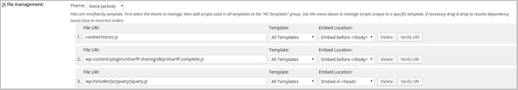 w3-total-cache Page d'optimisation du moteur de recherche WordPress Page Vitesse de chargement