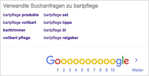 bartpflege-google-suche2 WDF * IDF Mots-clés recherche