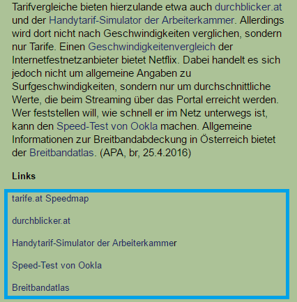 derstandard_at_outbound-links Outbound Links Linkplatzierung ausgehenden Links