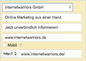 Abbildung1 SEA Google Adwords
