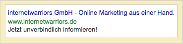 Abbildung2 SEA Google Adwords