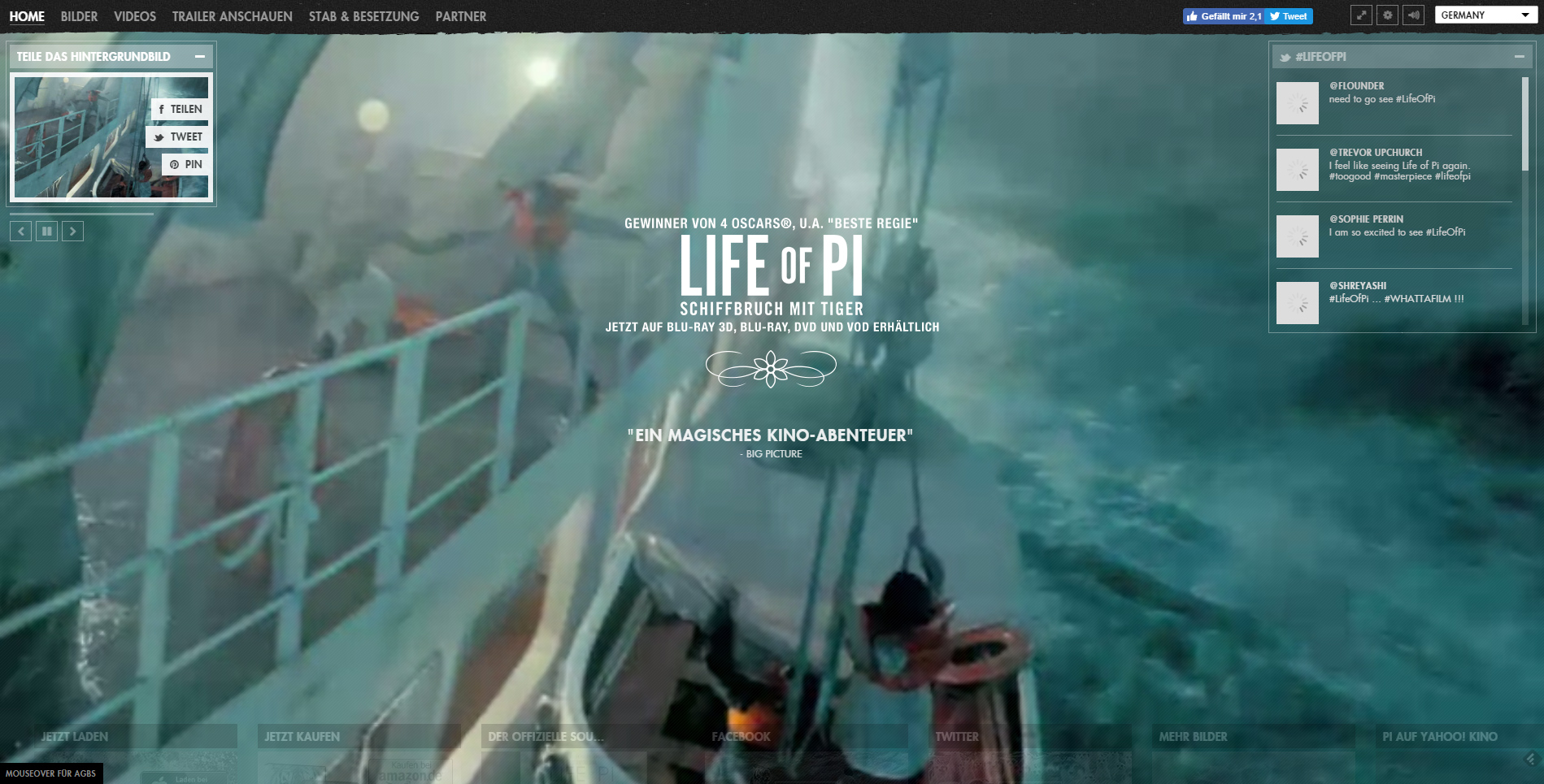 life-of-pie-website-screenshot capture vidéo marketing vidéo marketing en ligne