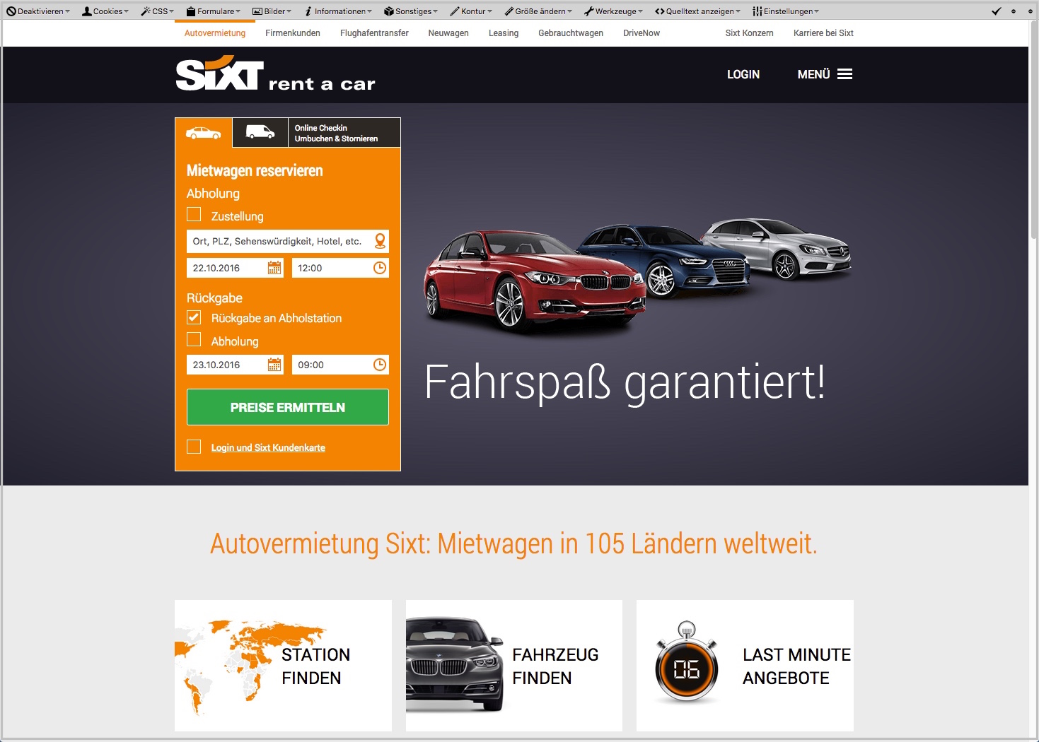 sixt2 User Experience Usability Checkliste