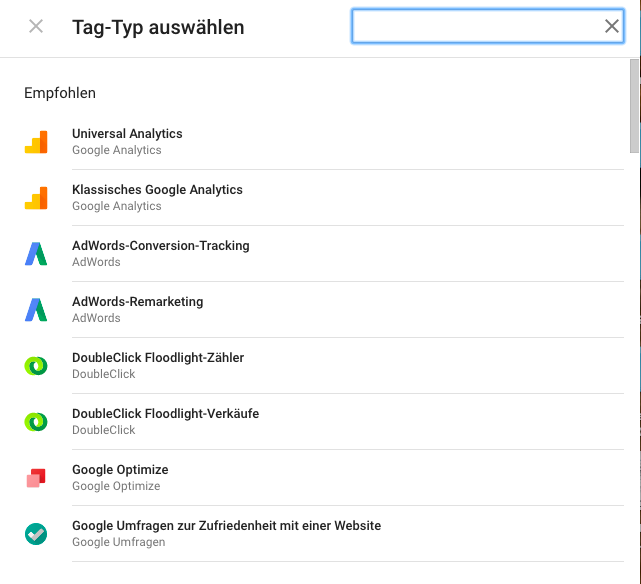 empfohlene-Pixel4 Webanalyse Tag Manager SEO Online Marketing Google Tag Manager