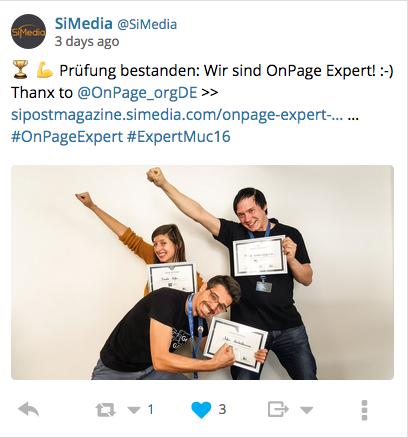 tweet OnPage Expert Expert Event