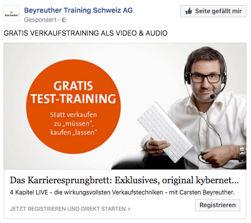 1 image contraste Facebook Publicité Facebook Publicités