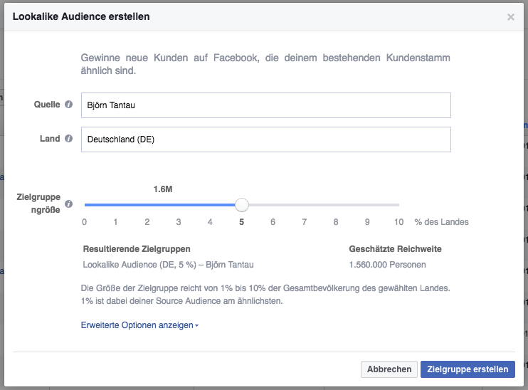 Groupe de 2 cibles testant Facebook Advertising Facebook Ads