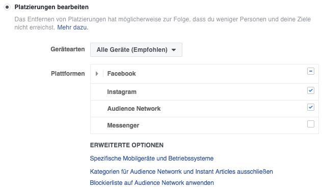 Publicité Facebook à 4 endroits Publicités Facebook