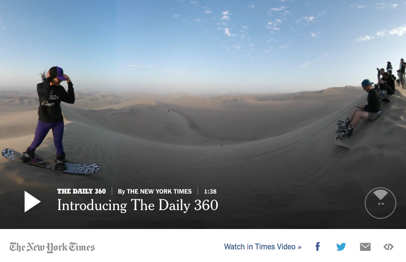 NYTimes social media facebook 360 Grad Video 360 Grad Foto