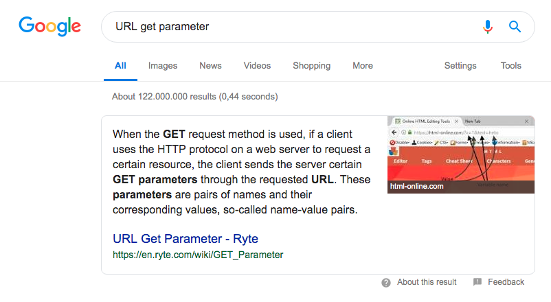 Featured-Snippet-Ryte Snippet Rich Snippets Rich Snippet