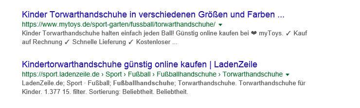résultat de recherche de gants de football Intention de l'utilisateur