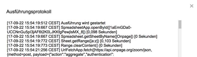 API d'exécution Data Studio dans Google