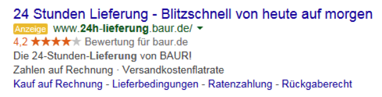 legal1 AdWords Anzeigen