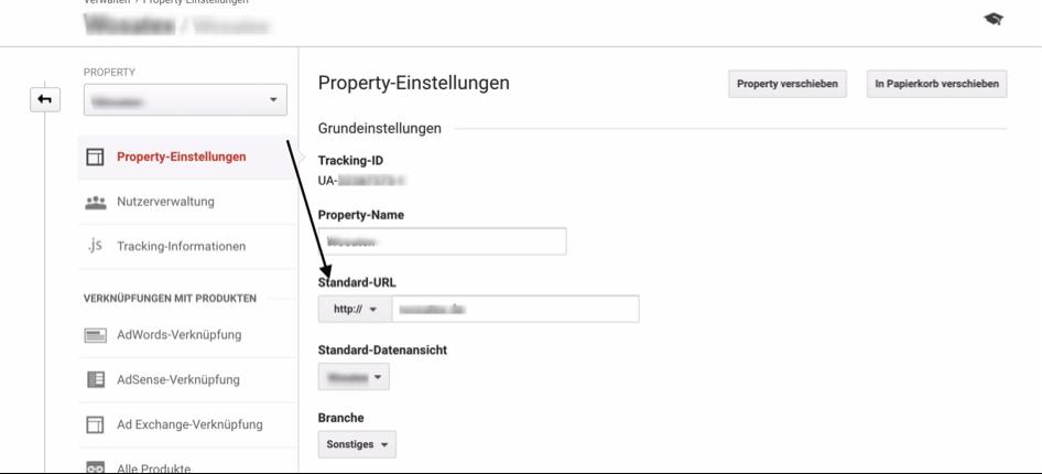 Property umstellen