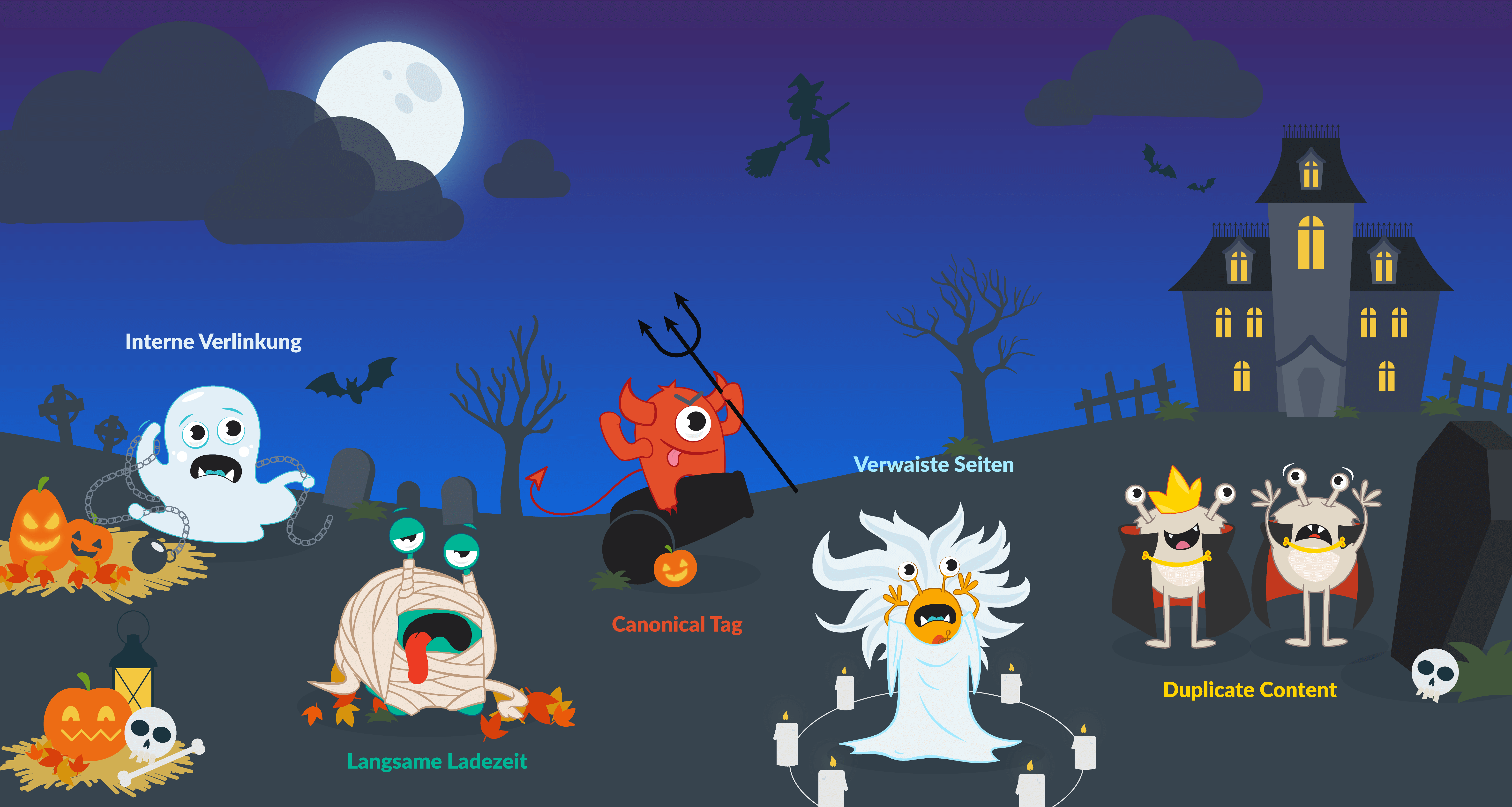 site infografic halloween succès SEO