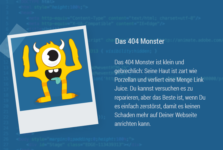 Magazine Monster 404 SEO 404 Page