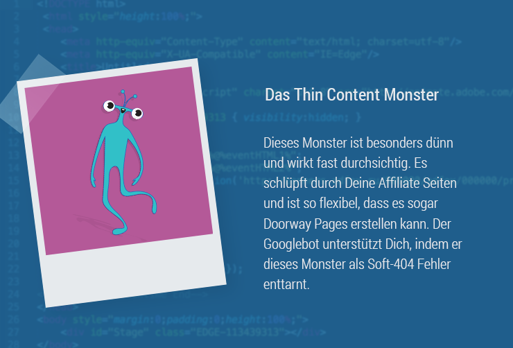 Contenu mince de Magazine-Monster-ThinContent