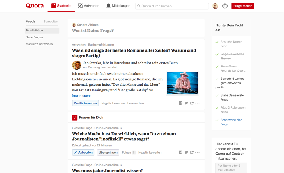 Marketing de contenu Quora