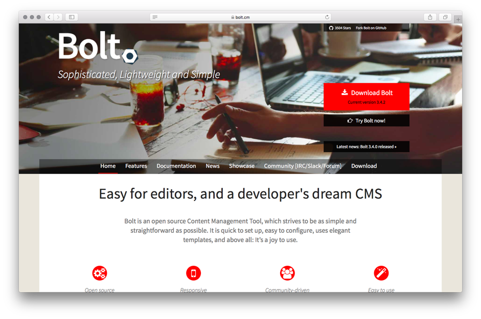 bolt Content Management Systems CMS