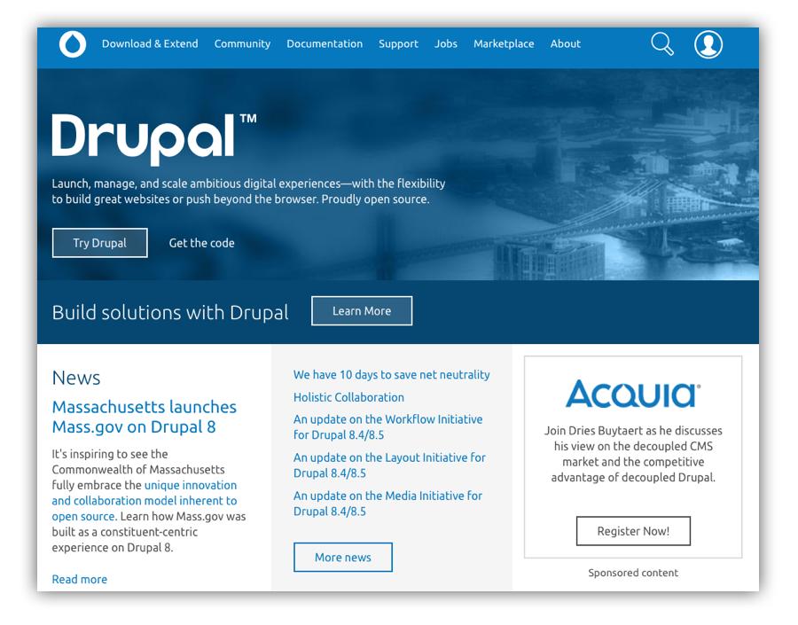 drupal_cms systèmes big CMS