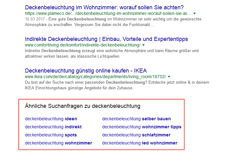 Abbildung7-Aehnliche-Suchanfragen-User-Intention SEO Basics SEO