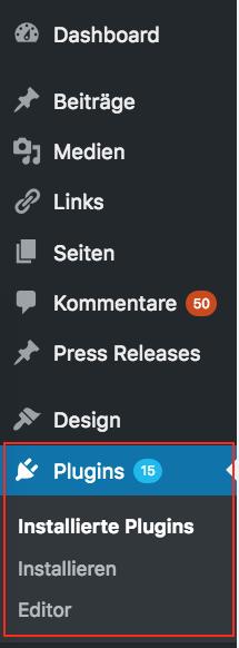 navigation wordpress